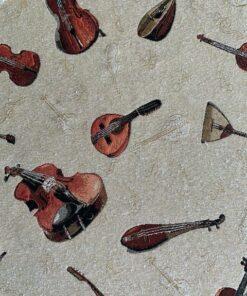 gobelin met strijkinstrumenten meubelstof gordijnstof decoratiestof