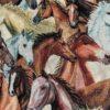 gobelin met paarden gordijnstof meubelstof decoratiestof