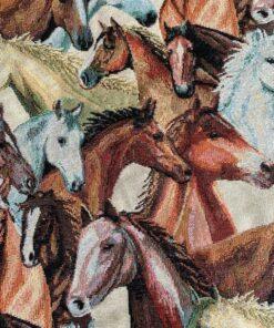 gobelin dieren 007 gobelin stof met paarden gordijnstof meubelstof decoratiestof