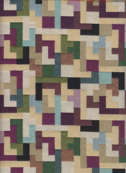 gobelin met tetris decoratiestof gordijnstof meubelstof