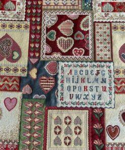 gobelin met patchwork gordijnstof meubelstof decoratiestof
