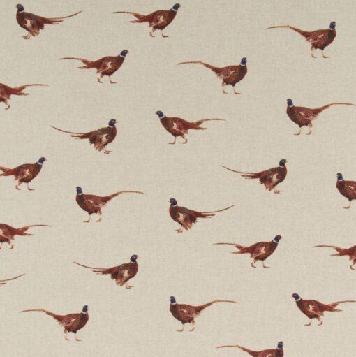 linnenlook Pheasant stof met fazanten decoratiestof gordijnstof meubelstof1.104530.1711.175