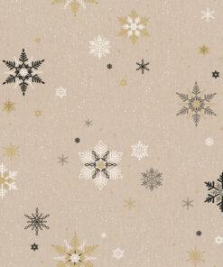 linnenlook kerststof 012 stof met kerststerren decoratiestof gordijnstof 1.104530.1948.650