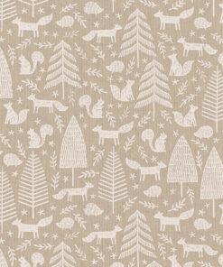 linnenlook printstof 284 stof met bosdieren decoratiestof 1.104530.1956.050
