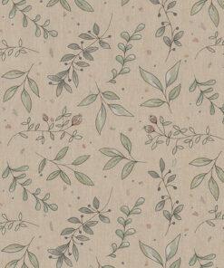 linnenlook printstof 294 stof met blaadjes decoratiestof 1.104530.1970.505