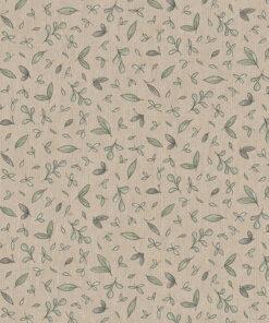 linnenlook printstof 291 stof met blaadjes decoratiestof 1.104530.1971.505