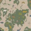 linnenlook printstof 291 stof met landkaart decoratiestof1.104530.1974.530