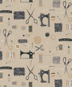 linnenlook printstof 288 stof met fournituren decoratiestof 1.104530.1978.630