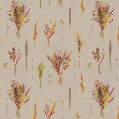 linnenlook printstof 285 stof met droogbloemen decoratiestof 1.104530.1981.655
