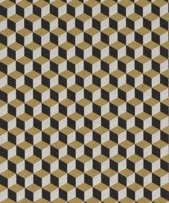 Jacquardstof Cubical Luxury stof met kubussen meubelstof gordijnstof decoratiestof