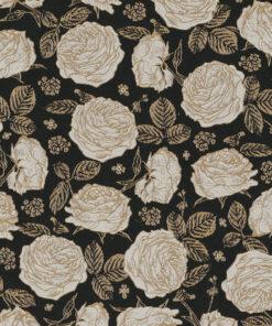 Jacquardstof White Roses Luxury gordijnstof meubelstof decoratiestof