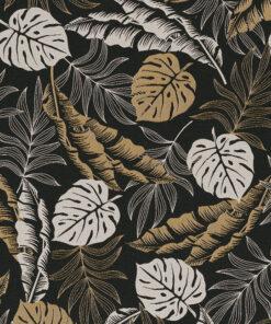 jacquardstof Tropical Leaves Luxury stof met bladeren gordijnstof meubelstof decoratiestof