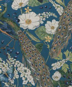 gobelin dieren 005 gobelin stof met pauwen decoratiestof gordijnstof meubelstof 1.251030.1572.485