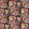 Gobelin Artistic Faces stof met gezichten meubelstof gordijnstof decoratiestof