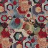 Gobelin Artistic Geometry stof met zeshoeken meubelstof gordijnstof decoratiestof