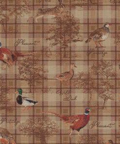 gobelin dieren 016 stof met hoenders decoratiestof gordijnstof1.251030.1619.180