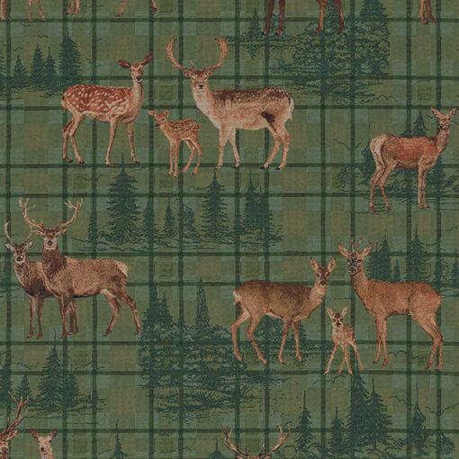 gobelin dieren 015 stof met herten decoratiestof gordijnstof 1.251030.1620.545