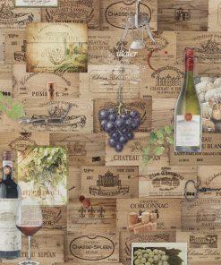 digitale printstof met wijn katoenen decoratiestof gordijnstof meubelstof 91299-19, 1.151030.1319.180