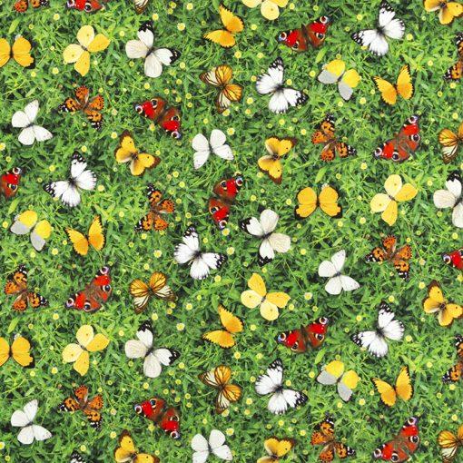 digitale printstof met vlinders katoenen decoratiestof gordijnstof meubelstof 91299-21, 1.151030.1321.525