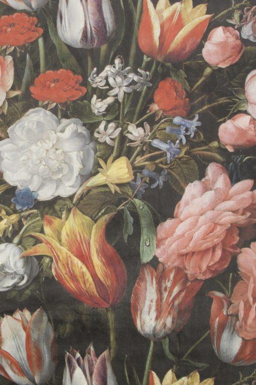 velvet bloemen Hollandse Meesters decoratiestof gordijnstof meubelstof velvet stof kopen velours stof kopen fluweel stof kopen 93702-01, 1.152540.1012.655