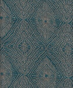 jacquardstof Amulette Emeraude stof met amuletten gordijnstof meubelstof decoratiestof