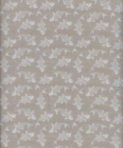jacquardstof Carpe Beige meubelstof gordijnstof decoratiestof stof met vissen