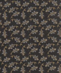 jacquardstof Carpe Or meubelstof gordijnstof decoratiestof stof met vissen