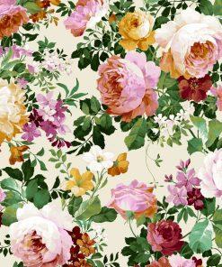 gordijnstof decoratiestof printstof ottoman bloemenstof F03550-01