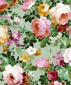 gordijnstof decoratiestof printstof ottoman bloemenstof F03550-02