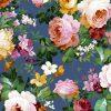 gordijnstof decoratiestof printstof ottoman bloemenstof F03550-03