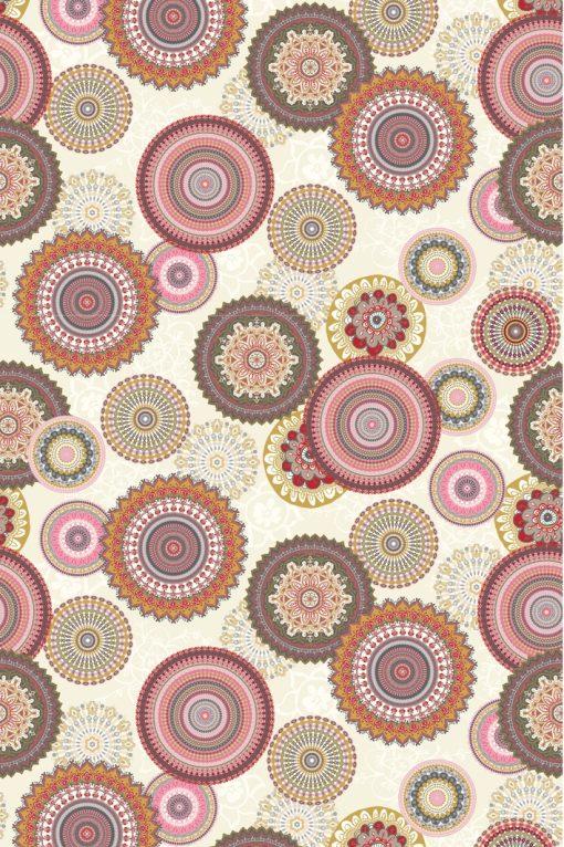 Ottoman printstof mandalaprint decoratiestof gordijnstof F03584-02, 1.105030.1629.450