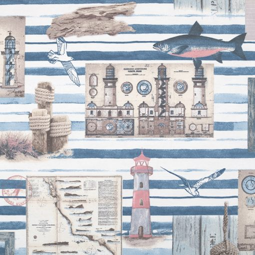 ottoman printstof nauticstof gordijnstof decoratiestof 03599-32