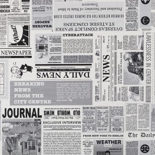 Ottoman printstof kranten gordijnstof decoratiestof 03599-41, 1.105030.1688.650