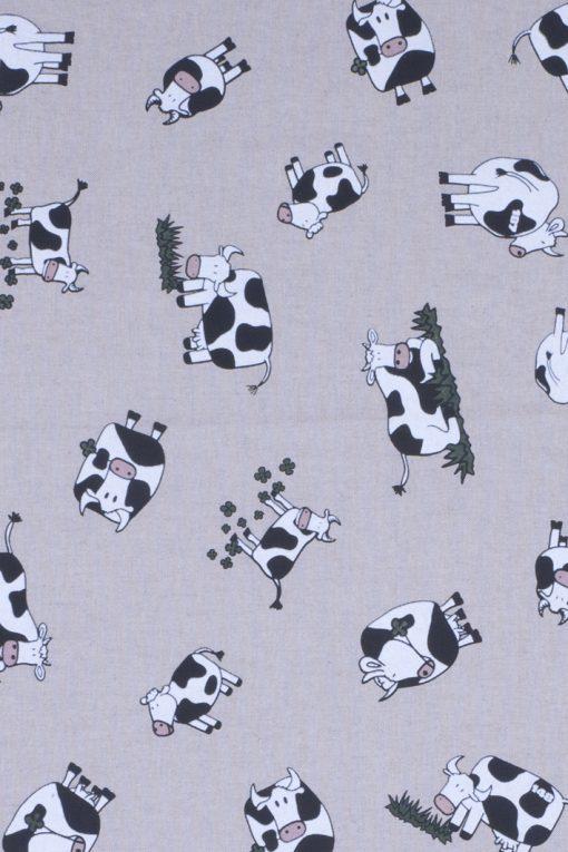linnenlook Happy Cow stof met koeien decoratiestof 07208-01, 1.104530.1316.650