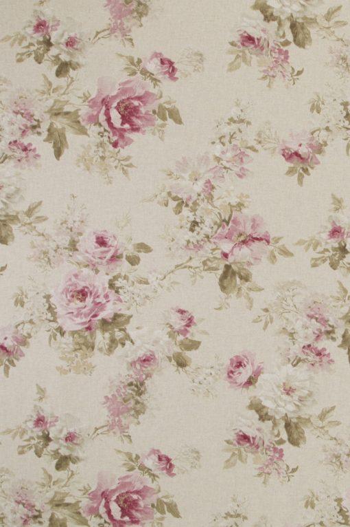 linnenlook Romantic Rose stof met rozen decoratiestof F07299-112, 1.104530.1533.365