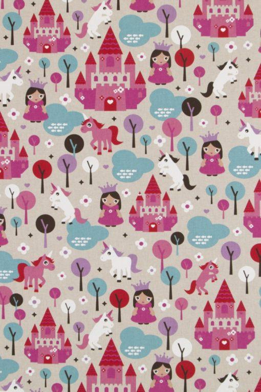 linnenlook Little Princess stof met prinses decoratiestof 07299-157, 1.104530.1578.380