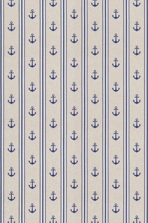 linnenlook nautische printstof gordijnstof decoratiestof 07299-182