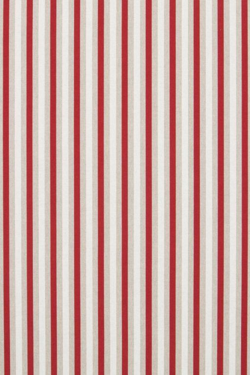 Linnenlook Red White Stripes stof met strepen decoratiestof F07299-259, 1-104530-1673-315