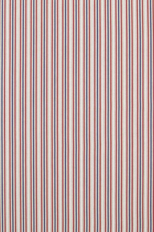 Linnenlook Blue Red Stripes stof met strepen decoratiestof 07299-261, 1-104530-1675-475