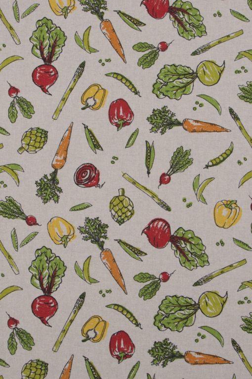 linnenlook Veggy stof met groenten decoratiestof F07299-310, 1-104530-1724-655