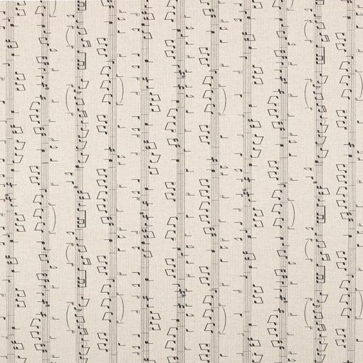 linnenlook Music Notes stof met muzieknoten decoratiestof F07299-333, 1-104530-1747-630