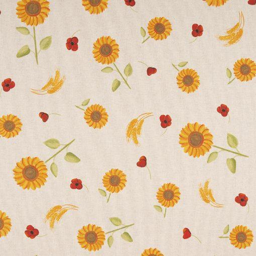 linnenlook Sunflower stof met zonnebloemen decoratiestof F07299-338, 1-104530-1752-230