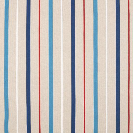 linnenlook Red Blue Stripes decoratiestof stof met strepen F07299-341, 1-104530-1755-460