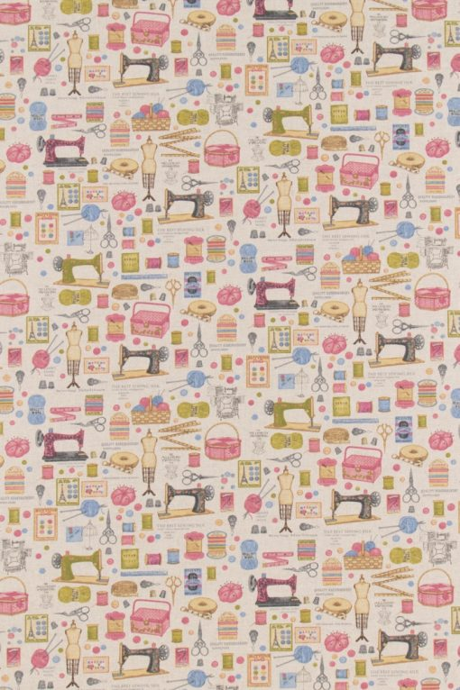 linnenlook Haberdashery stof met fournituren gordijnstof decoratiestof printstof 07299-73