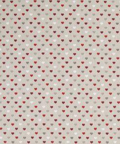 linnenlook kerststof hartjes decoratiestof gordijnstof Kerststoffen kopen F07480-01, 1-104533-1011-325