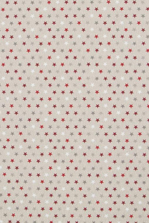 linnenlook kerststof glitter sterretjes decoratiestof printstof gordijnstof Kerststoffen kopen F07481-01, 1-104533-1012-325