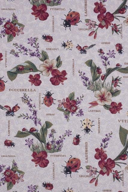 gobelin met lieveheersbeestjes gordijnstof meubelstof decoratiestof 87317-01, 1-251030-1369-105