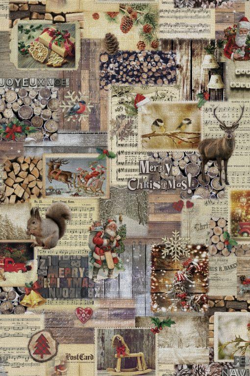 gobelin Kerststof decoratiestof gordijnstof meubelstof Kerststoffen kopen F87391-01, 1-251030-1463-165