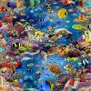 digitale printstof 127 stof met vissen gordijnstof decoratiestof meubelstof 91123-01
