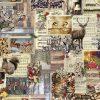 digitale katoenen decoratiestof printstof kerststof gordijnstof Kerststoffen kopen 91184-01, 1.151030.1185.180